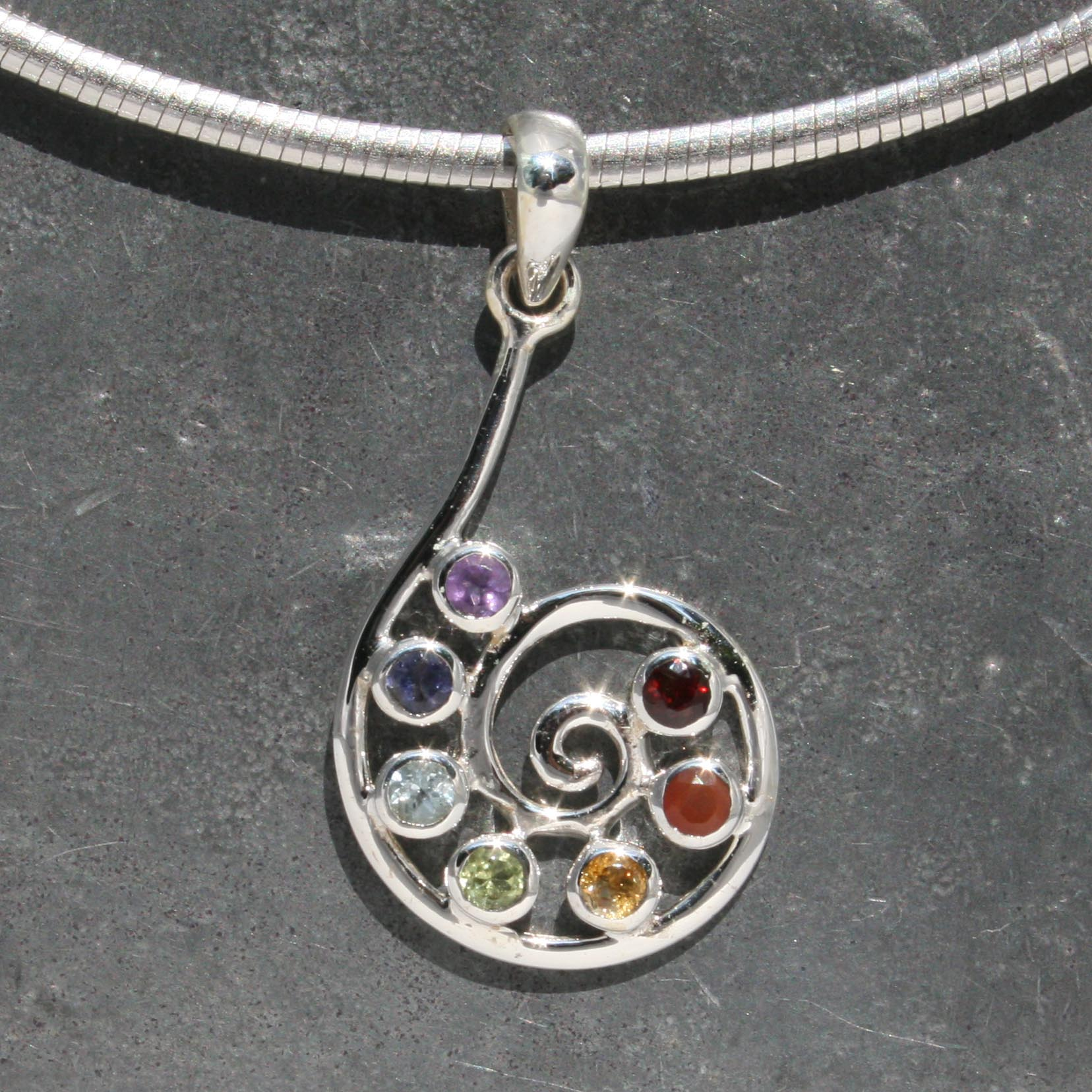 Chakra spiral pendant lumina jewellery chakra spiral pendant aloadofball Image collections