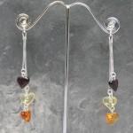 Amber Heart Earring