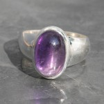 Amethyst thick Band ring