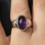Amethyst thick Band ring 2