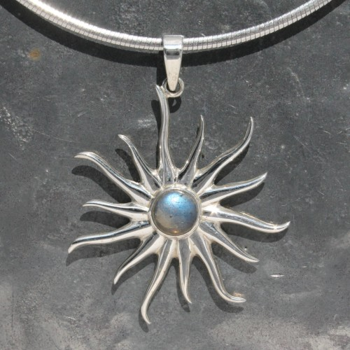 Labradorite Sun Pendant