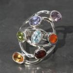 Chakra Ring oval stone