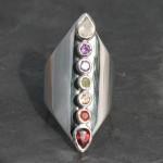 Chakra Thick Band Ring