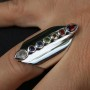 Chakra Thick Band Ring 2