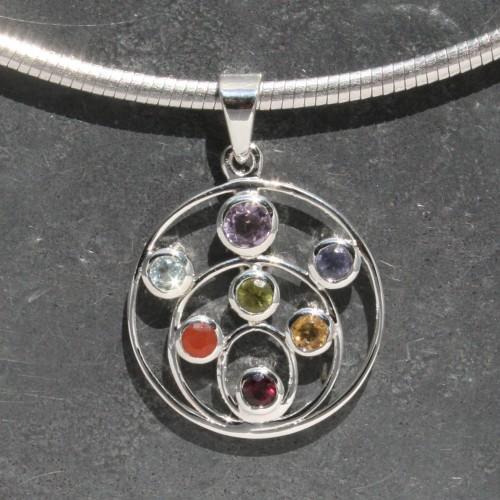 Chakra circle Pendant