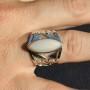 Ethopian Opal Filgiri Ring. hand