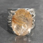 Faceted Rutite Quartz Ring
