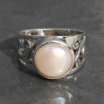 Fresh Water Pearl Filgree Ring