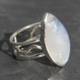 Moonstone Ring with Designer Band 1