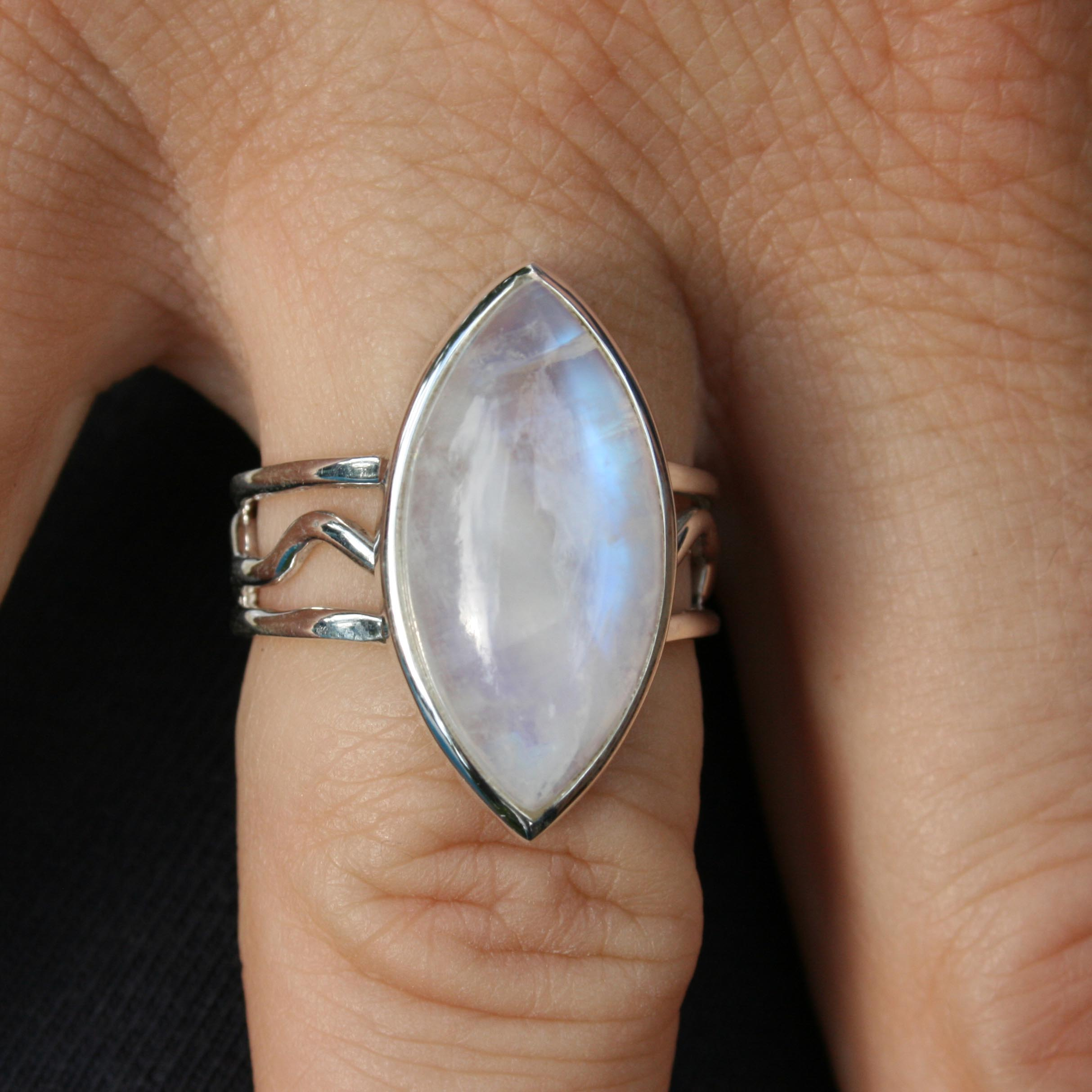 engagement with handmade moonstone rings and ring rose faceted gold