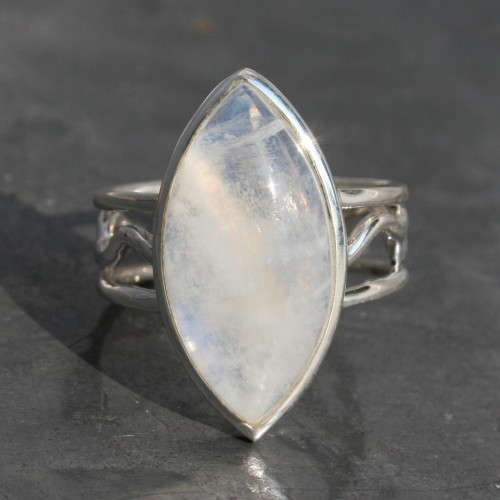 Moonstone Ring with Designer Band