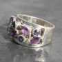 Multi Amethyst Ring 1