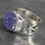 Tanzanite Sq Ring 1
