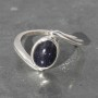 Blue goldstone twist Ring