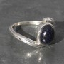 Blue goldstone twist Ring a