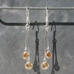 Citrine 2 drop Earrings