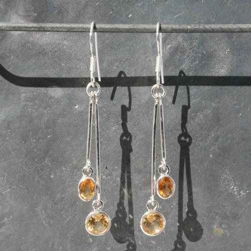 Citrine 2 drop Earrings