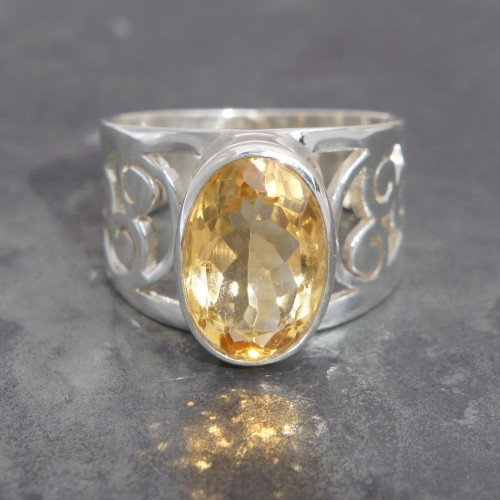 Citrine Filigree Ring