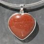Goldstone heart Pendant