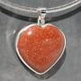 Goldstone heart Pendant1