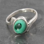 Malachite Twist Ring