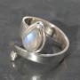 Moonstone Snake Ring c