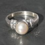 Pearl Ring 2 circle Ring