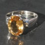 faceted Citrine Oval Ring a