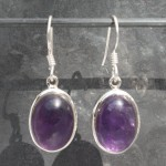 Amethyst Oval Cab Earrings