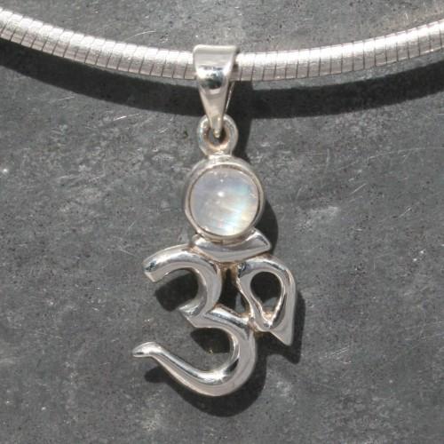 Aum with Moonstone Pendant