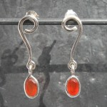 Carnelian Studs earrings