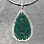 Ganesha Carved Onyx Pendant