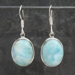 Larimar oval Earrings