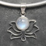 Lotus Moonstone Pendant