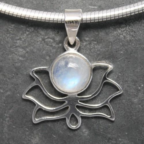 Lotus Moonstone Pendant