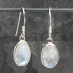 Moonstone Oval Cab Earrings