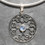 Moonstone Peace Pendant