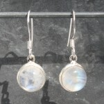 Moonstone Round Cab Earrings