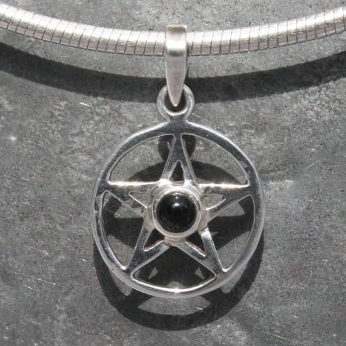 Pentagram Onyx Pendant