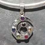 Precious Stone Spiral Pendant