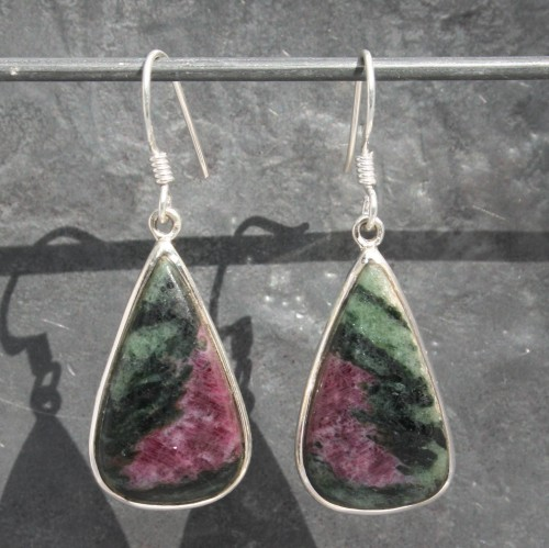Ruby Zoisite TD Earrings