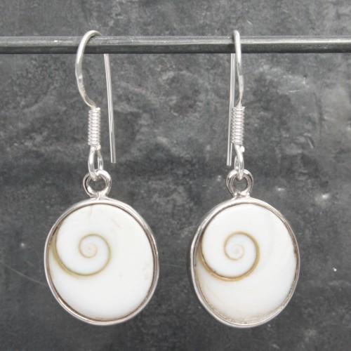 Shiva's Eye Oval Earrings