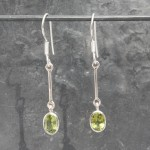 Single Drop Peridot Earrings