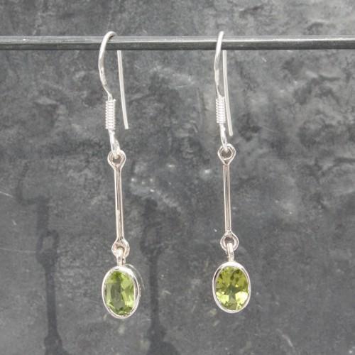 Single Drop Peridot Earrings