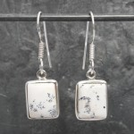 Square Opal Dendrite Earrings