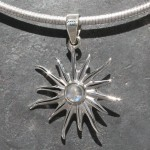 Sun with Moonstone Small Pendant