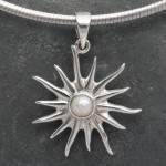Sun with Pearl Small Pendant