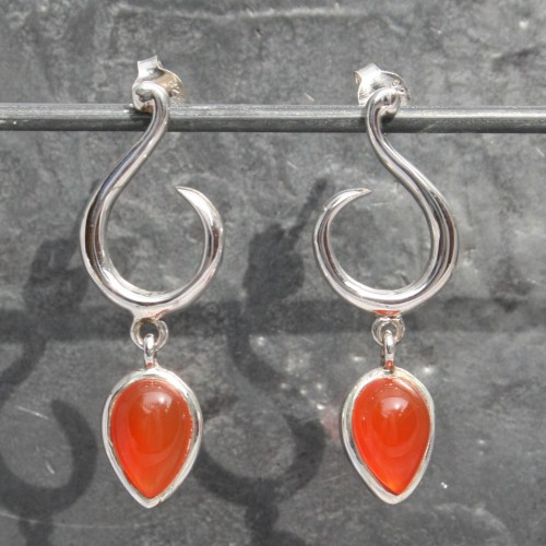 TD Carnelian Studs Earrings