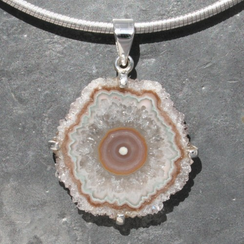 Amethyst Flower Agate Pendant