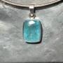 15.18 carat Aquamarine rectangle pendant 3